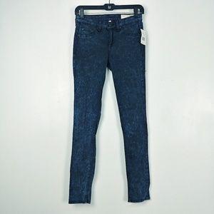 NWT $198 Rag & Bone Rosebowl Navy Acid Jeans 26